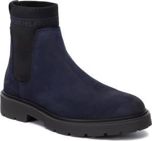 Niebieskie buty zimowe Tommy Hilfiger