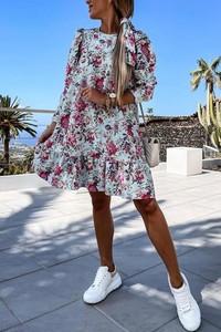 Sukienka IVET mini oversize z długim rękawem