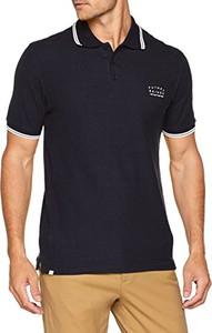 Granatowy t-shirt Putney Bridge w stylu casual z krótkim rękawem