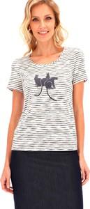 T-shirt POTIS & VERSO z okrągłym dekoltem z krótkim rękawem