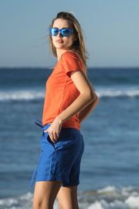 Pomarańczowy t-shirt Nessi Sportswear z bawełny w stylu casual