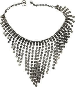 Gucci Kryształowy zdobiony naszyjnik na szelkach nigdy nie noszony