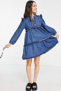 Sukienka Topshop z długim rękawem z golfem mini