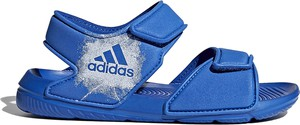 Niebieskie buty dziecięce letnie Adidas na rzepy