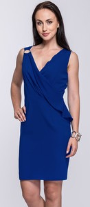 6a2e194ade suknie koktajlowe szczecin. Niebieska sukienka Semper midi kopertowa