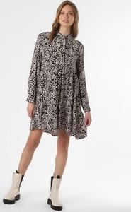 Czarna sukienka Superdry mini koszulowa w stylu casual
