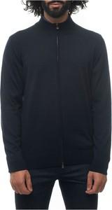 Niebieski sweter Hugo Boss z wełny w stylu casual