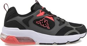 Czarne buty sportowe Kappa ze skóry ekologicznej