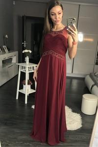 83eed0937d89ba Sukienki balowe • Sukienka Wieczorowa Model 17790 Navy. Sukienka  Yournewstyle bez rękawów z okrągłym dekoltem maxi
