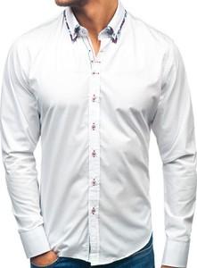 Koszula Denley z długim rękawem z klasycznym kołnierzykiem z bawełny