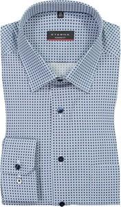Niebieska koszula Eterna w stylu casual z długim rękawem z bawełny