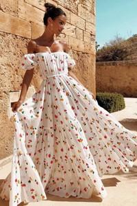 Sukienka Ivet.pl z krótkim rękawem w stylu boho