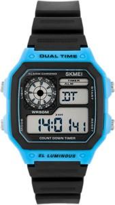ZEGAREK MĘSKI SKMEI 1299 Dual Time - (zs033b) - Niebieski || Czarny