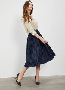 Niebieska spódnica Moodo w stylu klasycznym