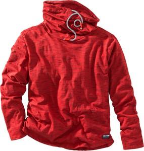 Czerwona koszulka z długim rękawem bonprix bpc bonprix collection z długim rękawem