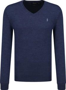 Niebieski sweter POLO RALPH LAUREN w stylu casual