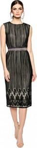 Czarna sukienka L'AF bez rękawów z tiulu midi