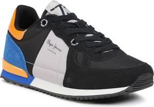 Czarne buty sportowe dziecięce Pepe Jeans dla chłopców
