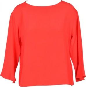Czerwona bluzka Marella z okrągłym dekoltem w stylu casual z długim rękawem