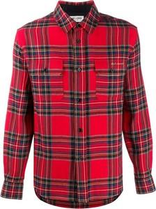 Czerwona koszula SAINT LAURENT z kołnierzykiem button down z długim rękawem
