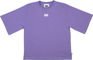 Fioletowa bluzka Martin Asbjørn z krótkim rękawem