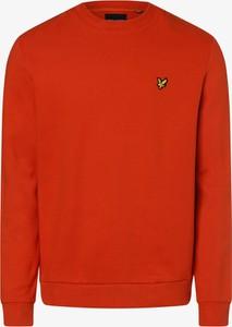 Pomarańczowa bluza Lyle & Scott z bawełny w stylu casual