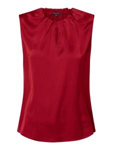 Czerwona bluzka comma, z okrągłym dekoltem