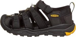 Czarne buty dziecięce letnie Keen ze skóry na rzepy