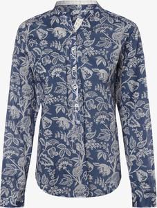 Niebieska bluzka Marie Lund w stylu casual z kołnierzykiem