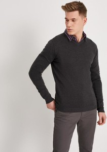 Czarny sweter Diverse w stylu casual z bawełny