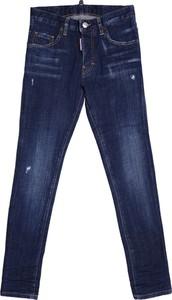 Granatowe spodnie dziecięce Dsquared2 dla chłopców