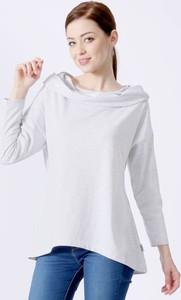 Bluzka Grupa Ventus z długim rękawem z bawełny z okrągłym dekoltem