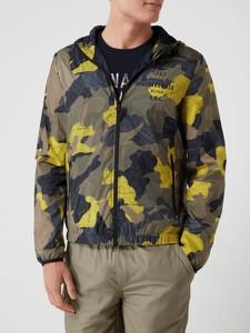 Żółta kurtka Aeronautica Militare krótka w młodzieżowym stylu