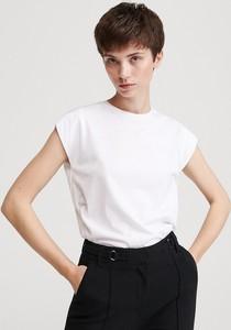 T-shirt Reserved z okrągłym dekoltem w stylu casual z długim rękawem