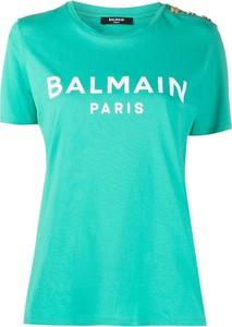 T-shirt Balmain z bawełny z krótkim rękawem