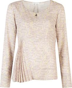 Bluzka ubierzsie.com w stylu casual z tkaniny z długim rękawem