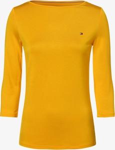 Żółty t-shirt Tommy Hilfiger w stylu casual