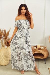 Sukienka Promese z krótkim rękawem hiszpanka w stylu boho