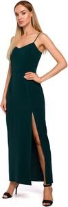 Sukienka MOE z dekoltem w kształcie litery v maxi z tkaniny