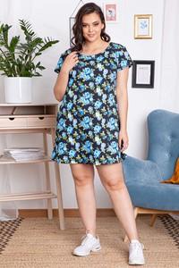 Sukienka KARKO z okrągłym dekoltem z krótkim rękawem mini