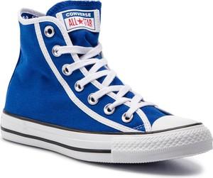 Niebieskie trampki Converse all star w sportowym stylu wysokie