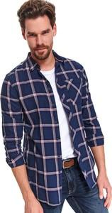 Granatowa koszula Top Secret z długim rękawem w stylu casual