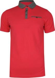 Czerwony t-shirt Ranir z krótkim rękawem
