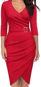 Czerwona sukienka Arilook mini ołówkowa