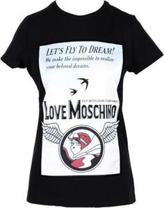 T-shirt Love Moschino z krótkim rękawem w młodzieżowym stylu