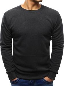 Dstreet bluza męska gładka antracytowa (bx3418)