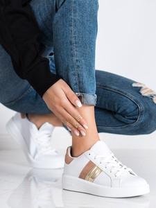 Buty sportowe Czasnabuty ze skóry sznurowane