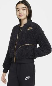 Czarna kurtka dziecięca Nike z dzianiny