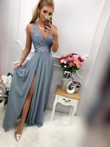 Sukienka E-sukienki.pl maxi z jeansu