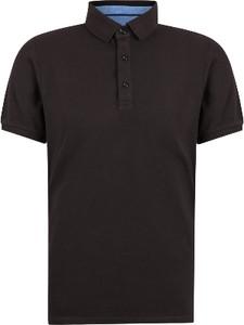 Czarna koszulka polo Di Selentino z krótkim rękawem z bawełny
